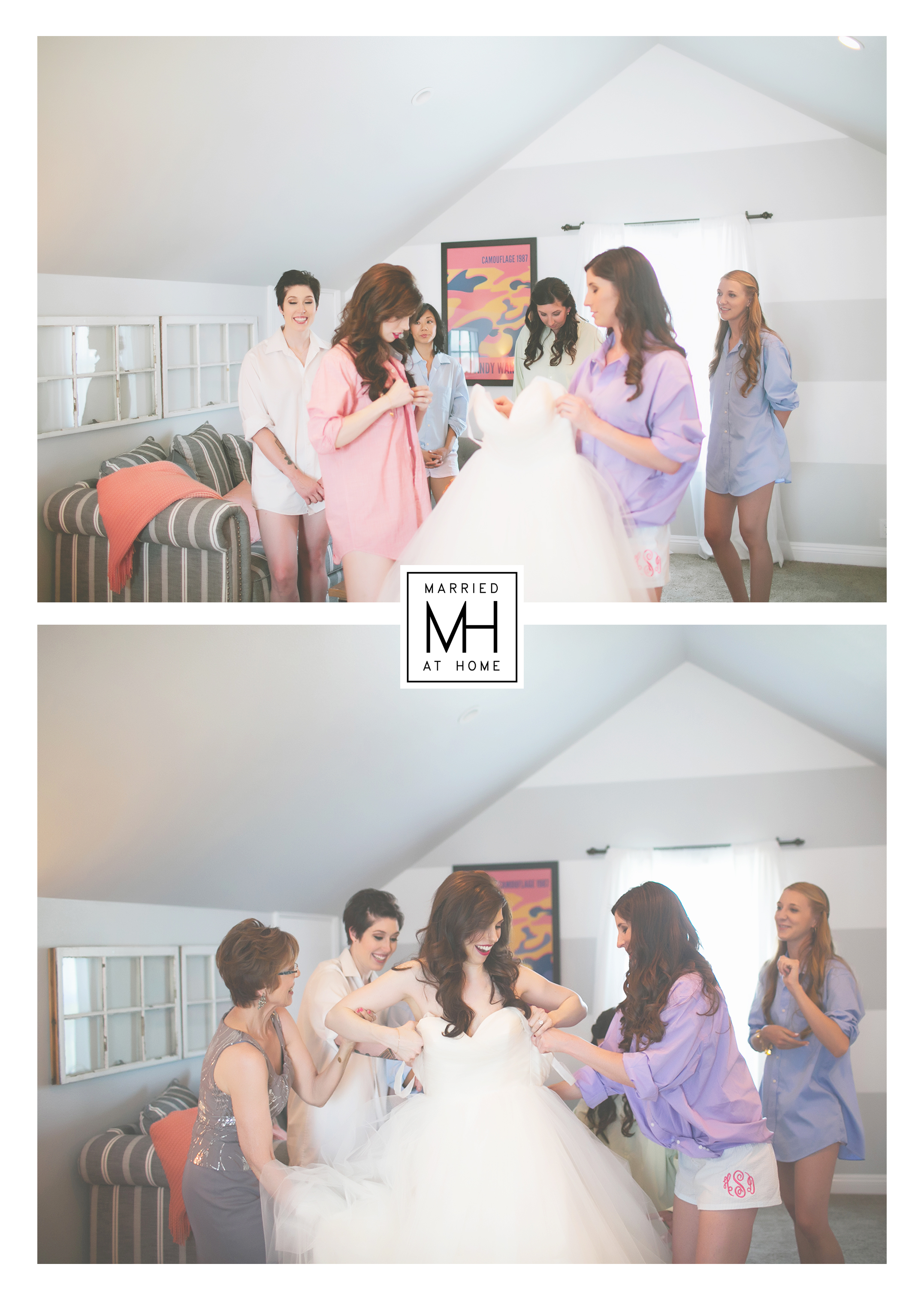 Getting Into the Dress | Married At Home