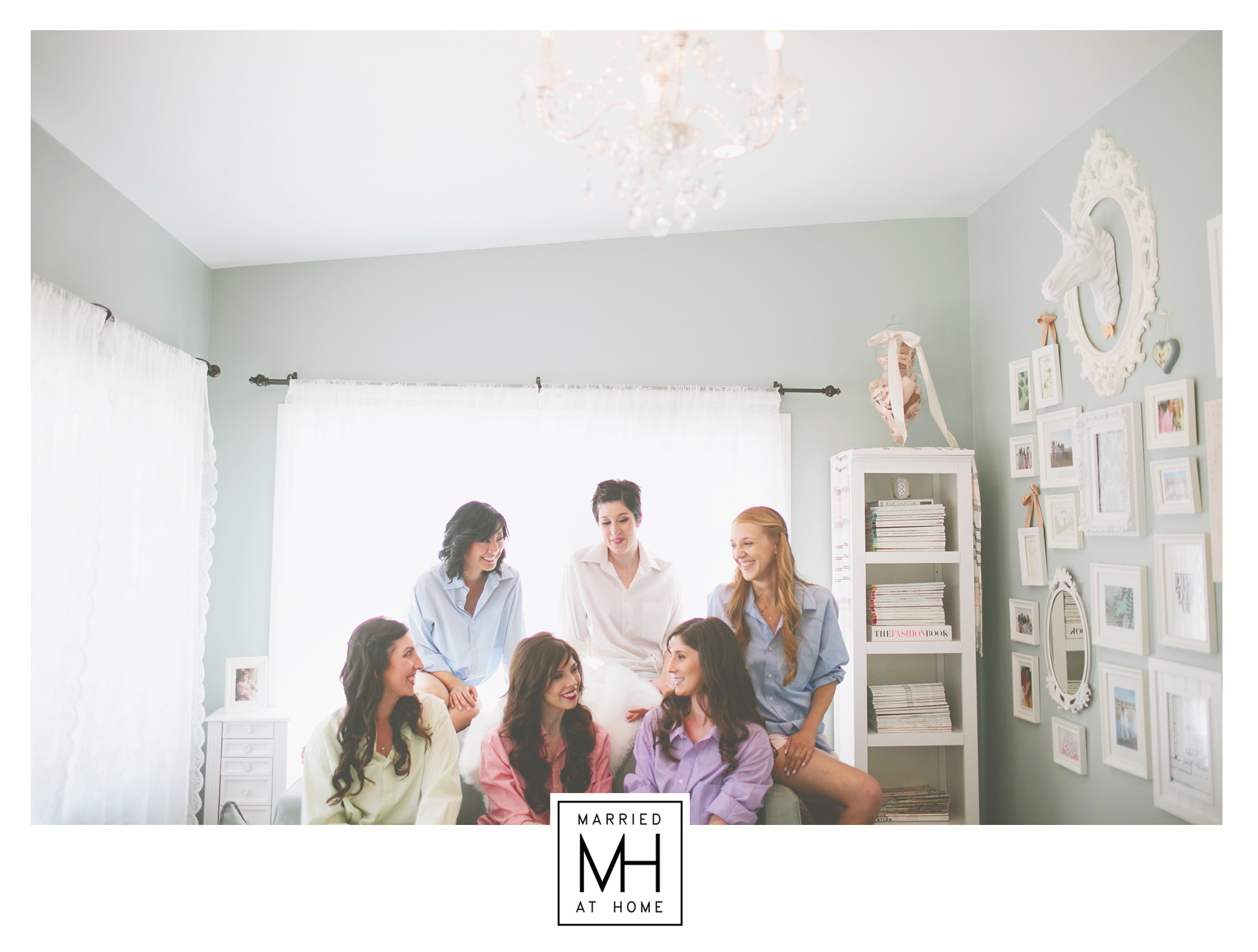 Bridesmaids Getting Ready | Married At Home