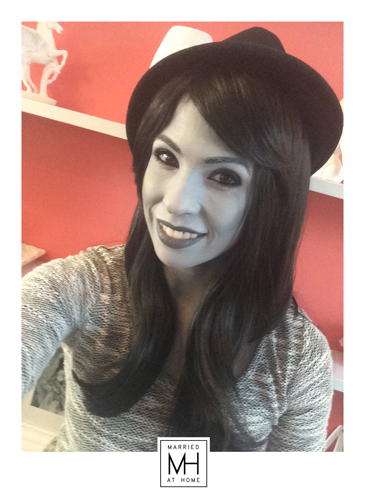 Grayscale Halloween Makeup | Married At Home