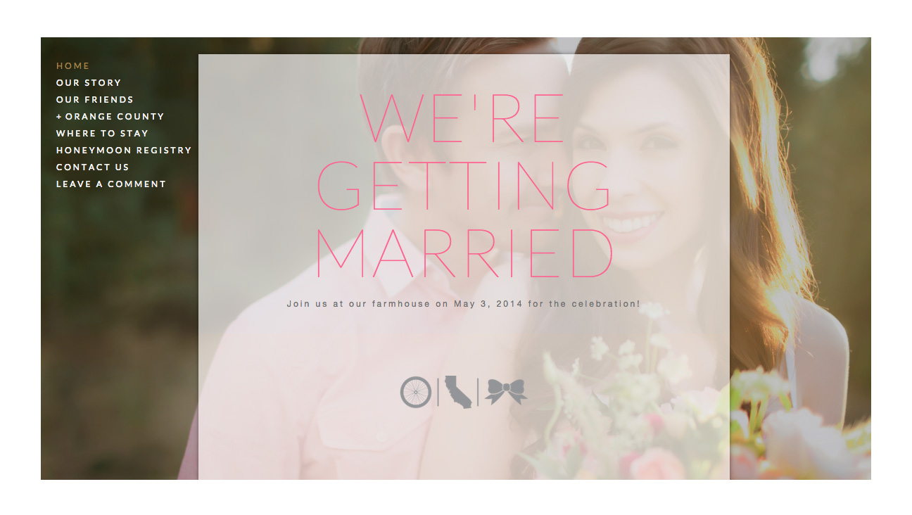 Wedding Website | Married At Home