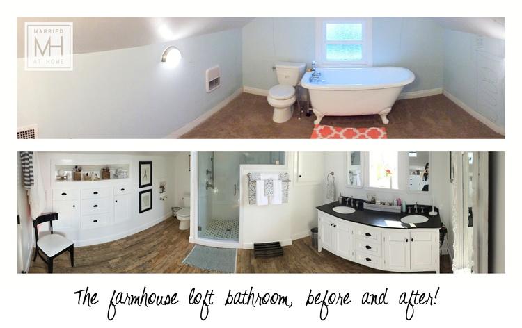 The Farmhouse Loft Bathroom | Married At Home