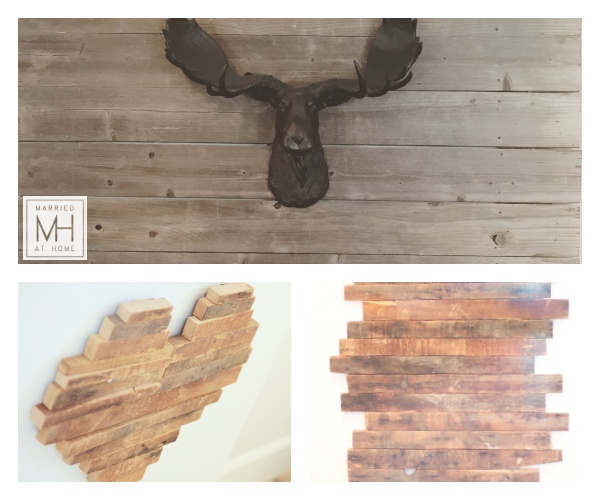 Reclaimed Wood Decor | Married At Home
