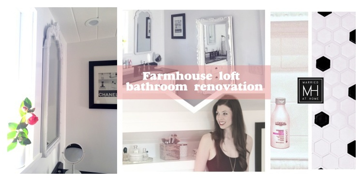 Farmhouse Loft Bathroom Renovation | Married At Home