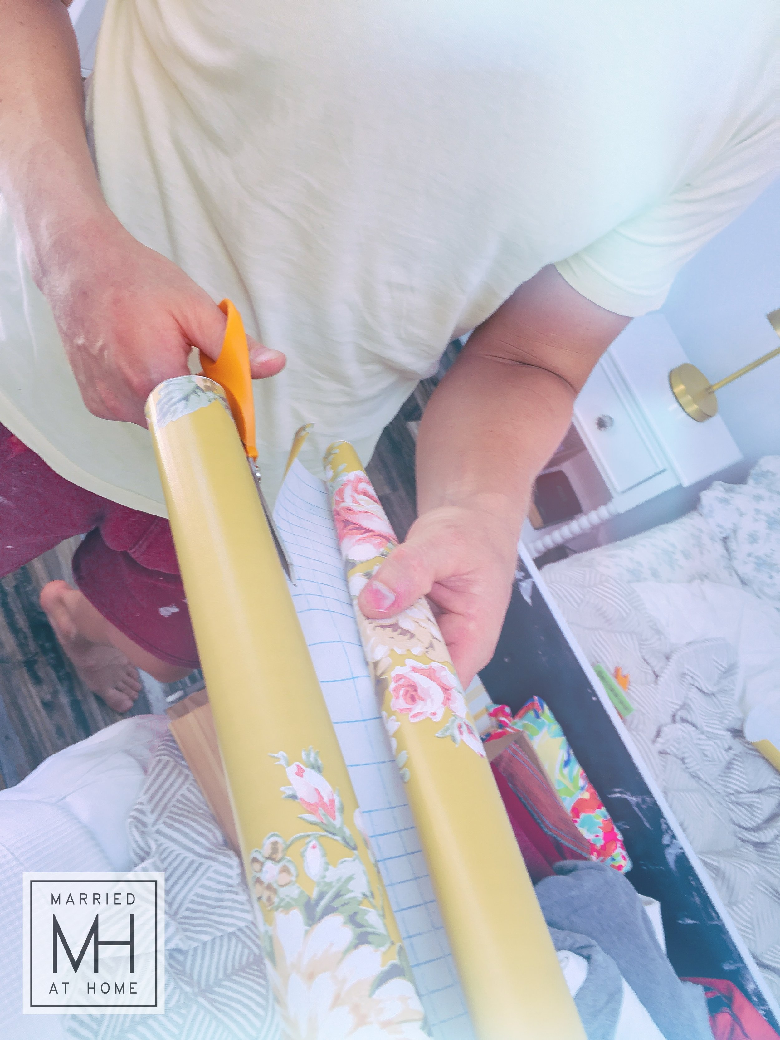 A Quick Drawer Makeover With Contact Paper | Married At Home
