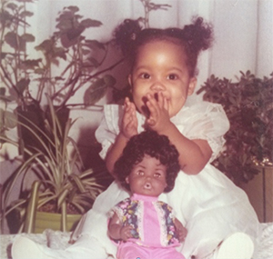 Yep, that's me with my 1st baby doll.