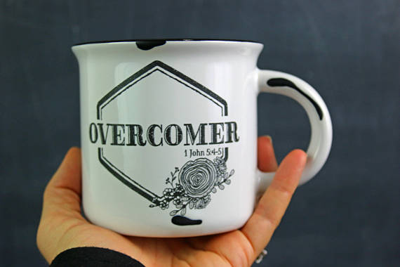 Give her courage to overcome with this  Campfire Mug  from Born Again Brand.