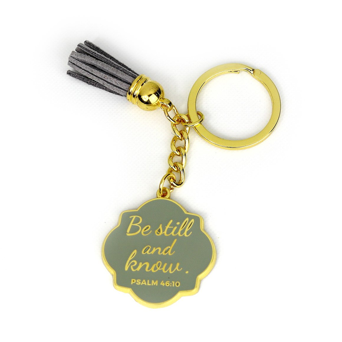 Give her a sense of peace with this  Be Still Keychain  from Doses of Grace.