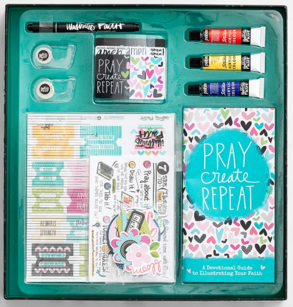 Inspire the artist with this  Bible Journaling Kit  from Illustrated Faith.