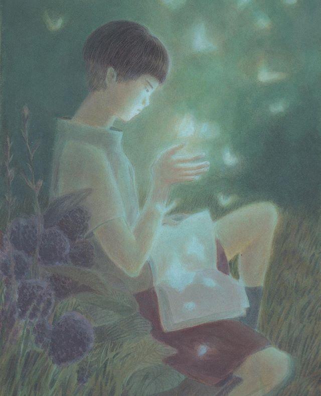 A good read. . . . #fantasy #illustration #dreamer #dianliang #イラスト #絵 #夢 #梁电