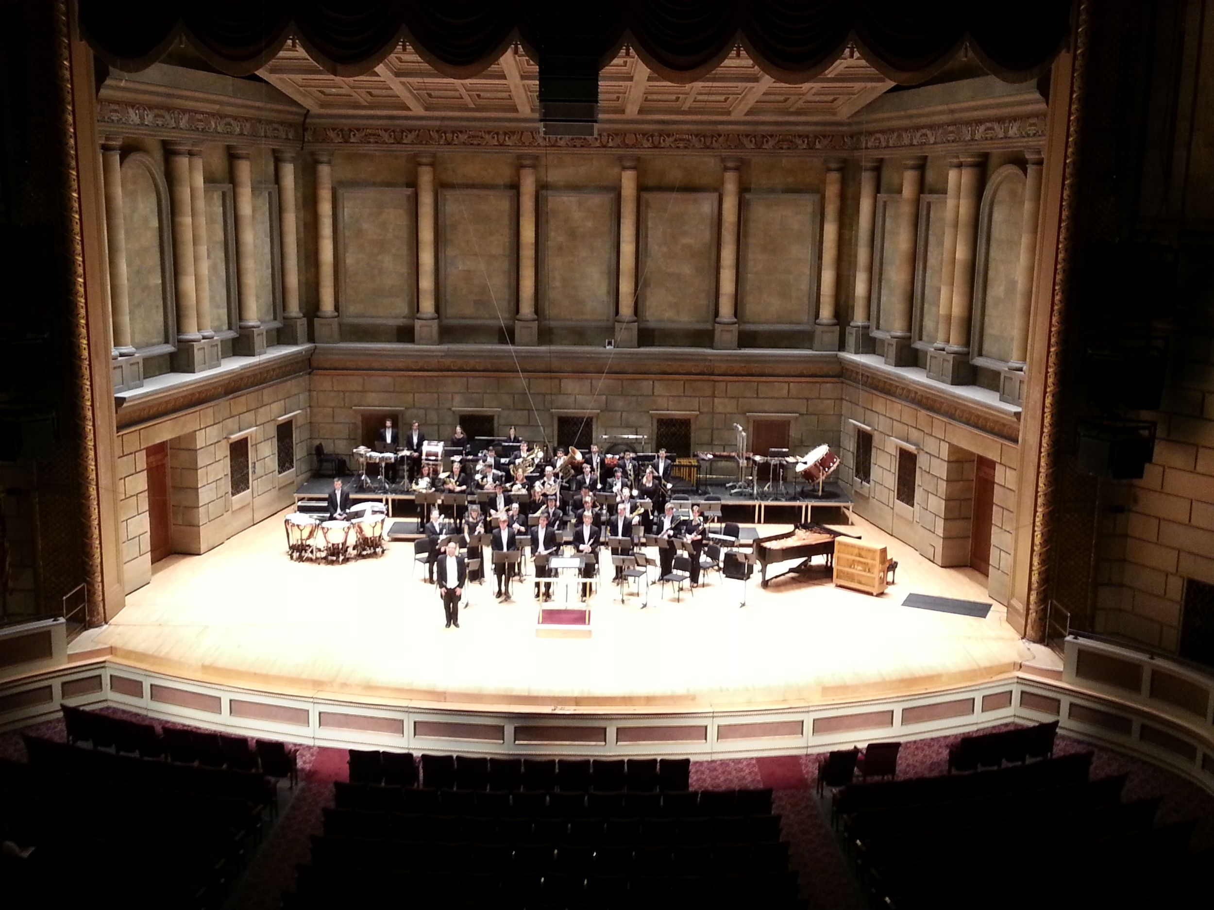 Eastman Wind Orchestra in Kodak Hall at Eastman Theater