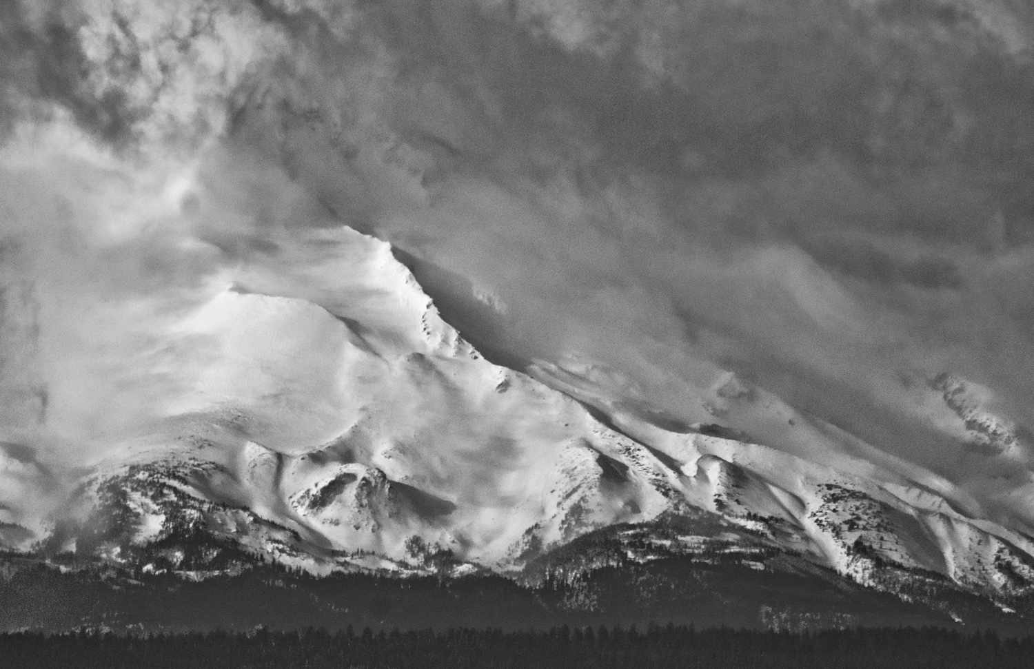 Mt. Jefferson attempting to hide it's beauty under the clouds.