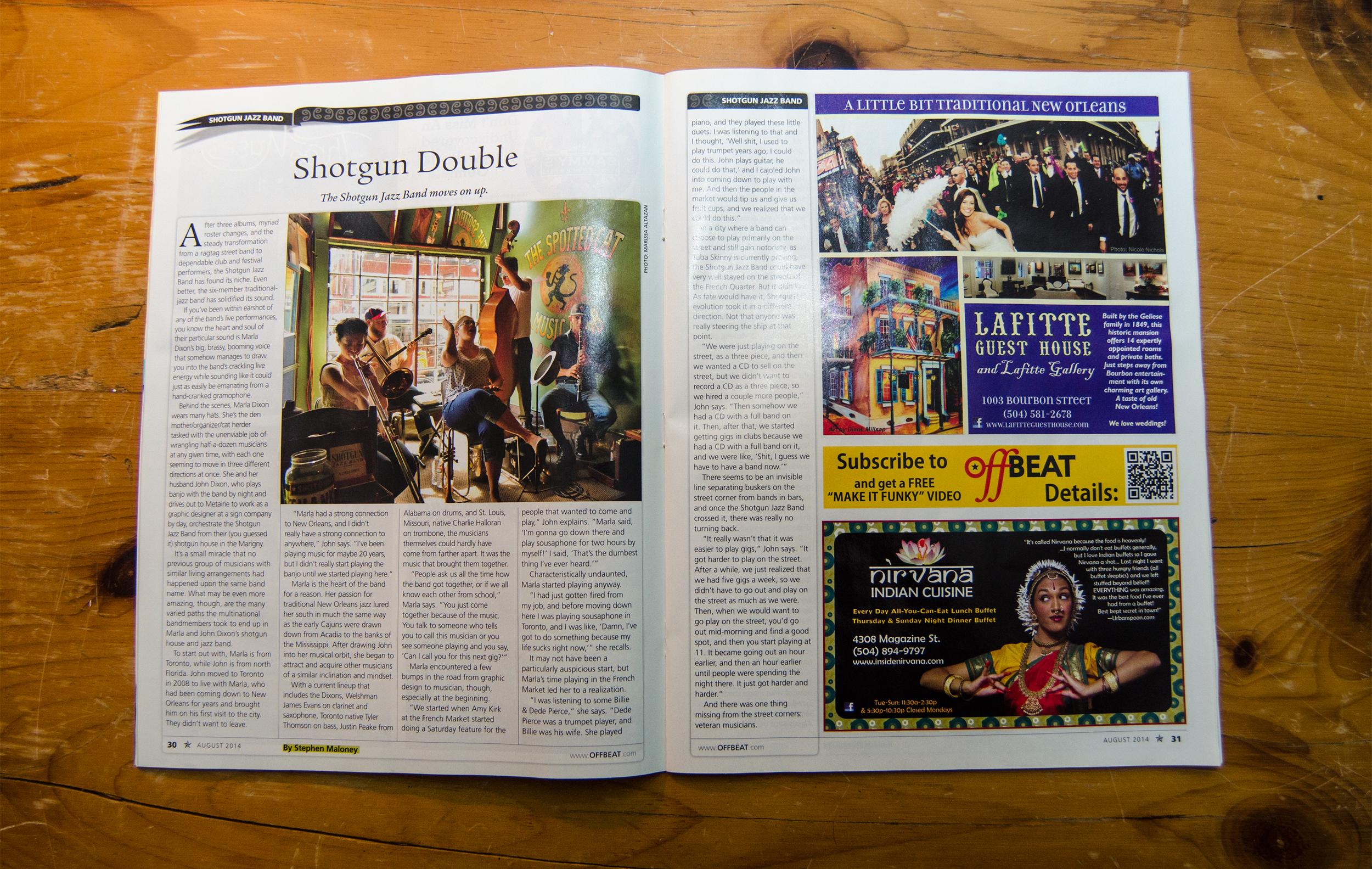 Offbeat Magazine, August 2014