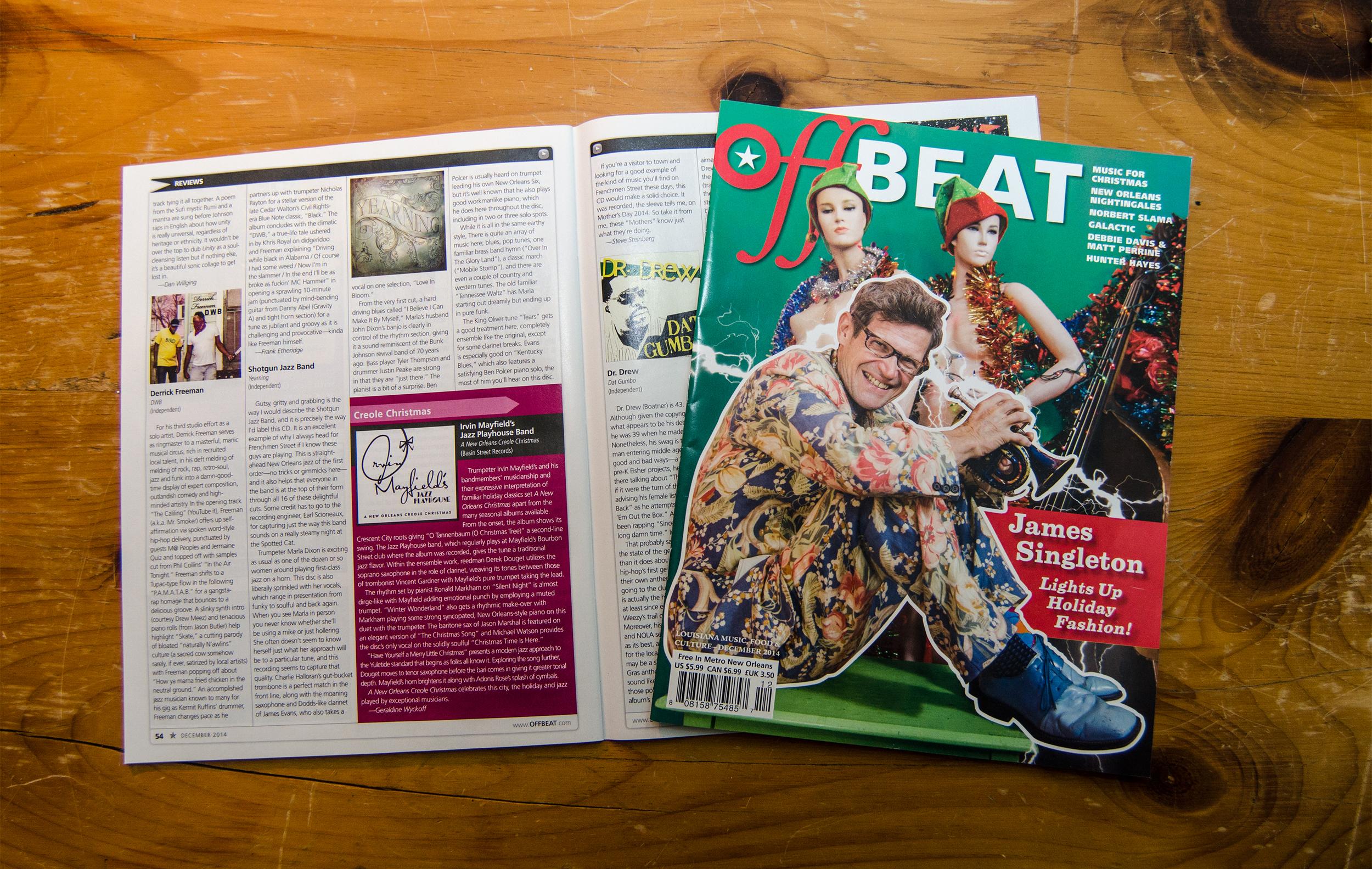 Offbeat Magazine, March 2014