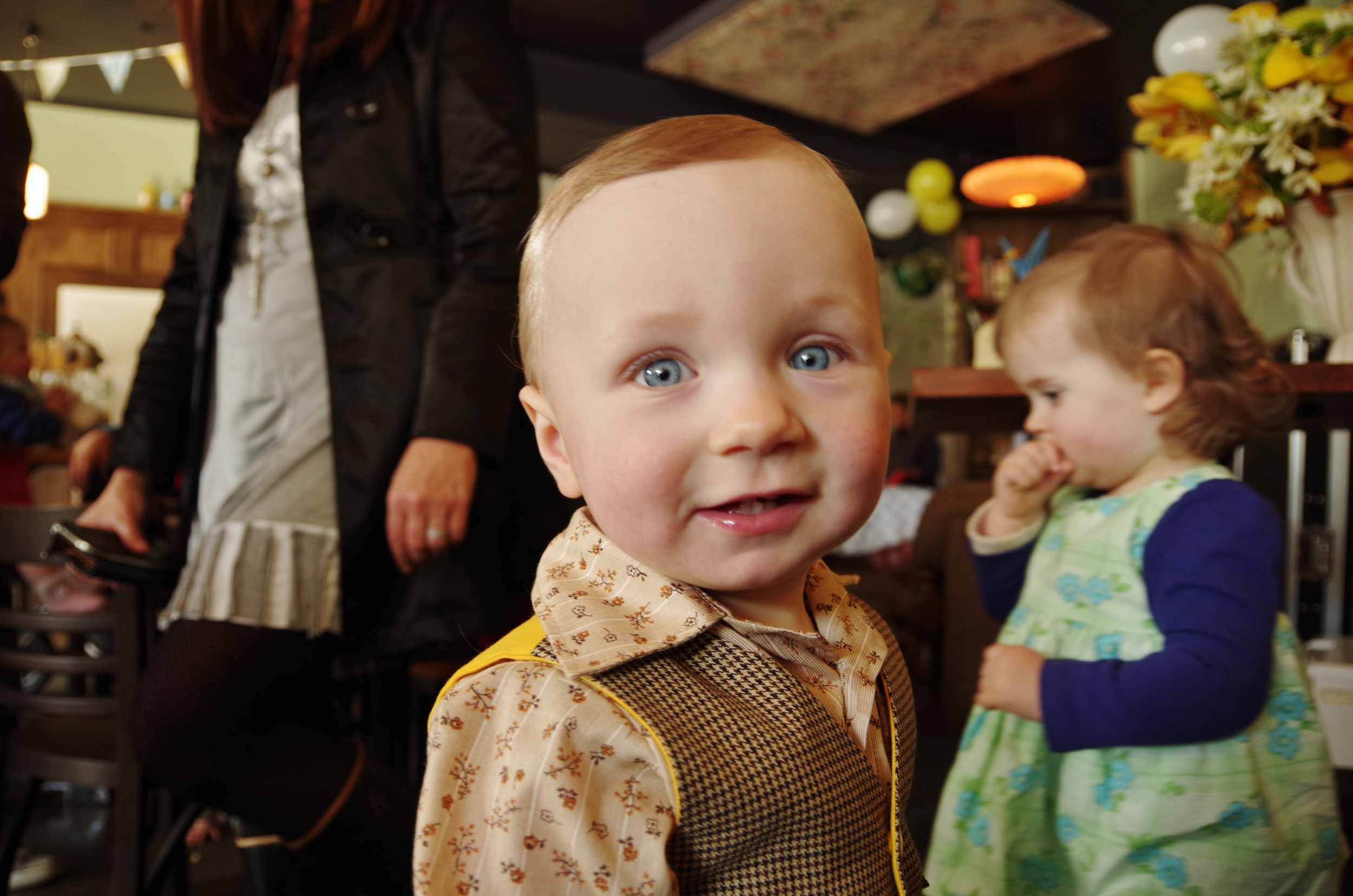 My sweet little guy on his first birthday. Sorry you were a little bit overshadowed—next year we'll be sure not to hijack your birthday party with a surprise wedding!