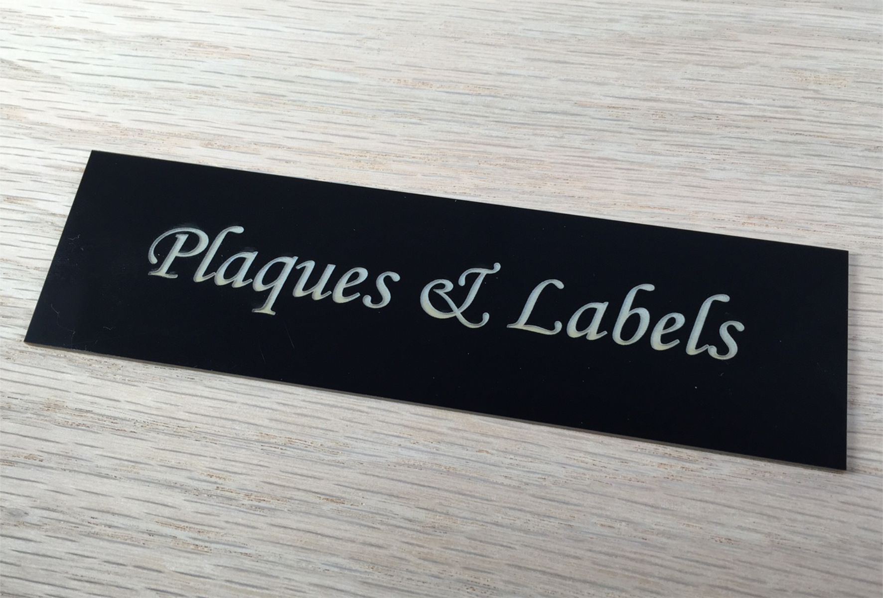 Plaques & labels made from top quality laser engraving materials