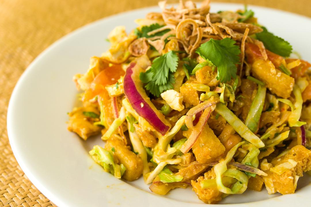 #7 Burmese Tofu Salad (Tofu Thouk) - $10