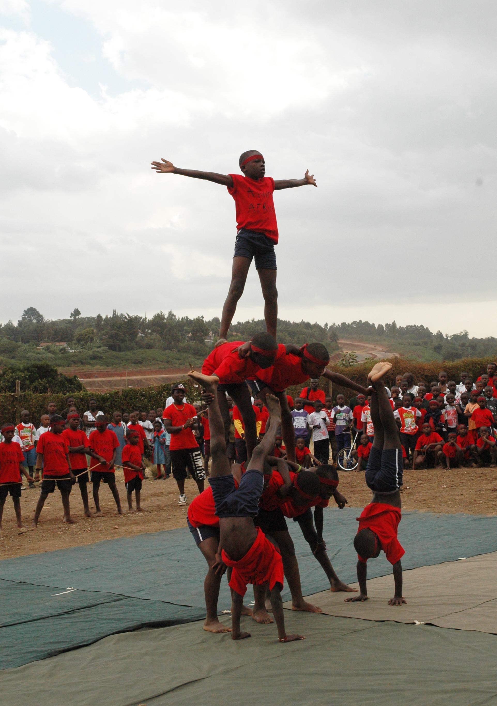 Circus acrobats in Kibera.jpg