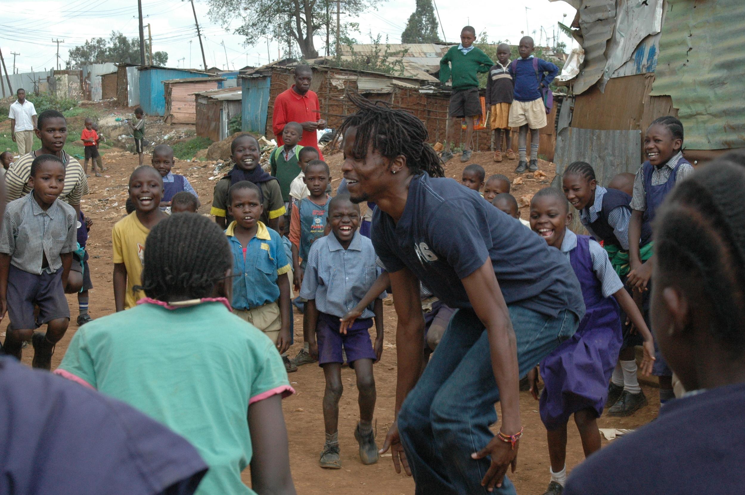 Dance warm up Kibera.JPG