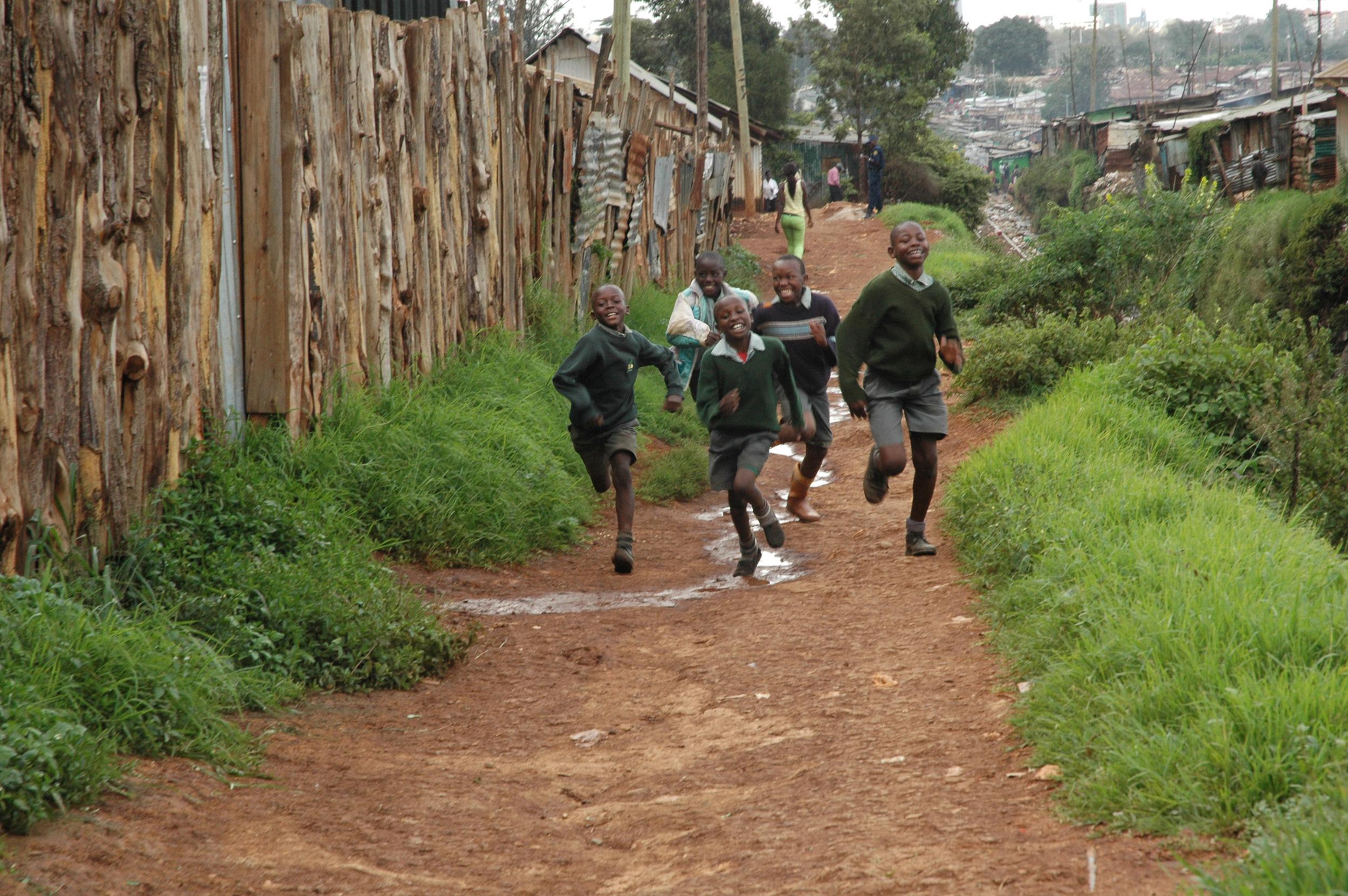 Running to class Kibera.jpg