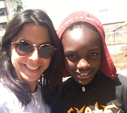 HANNAH WITH ONE OF HER HAPPY STUDENTS, lENA