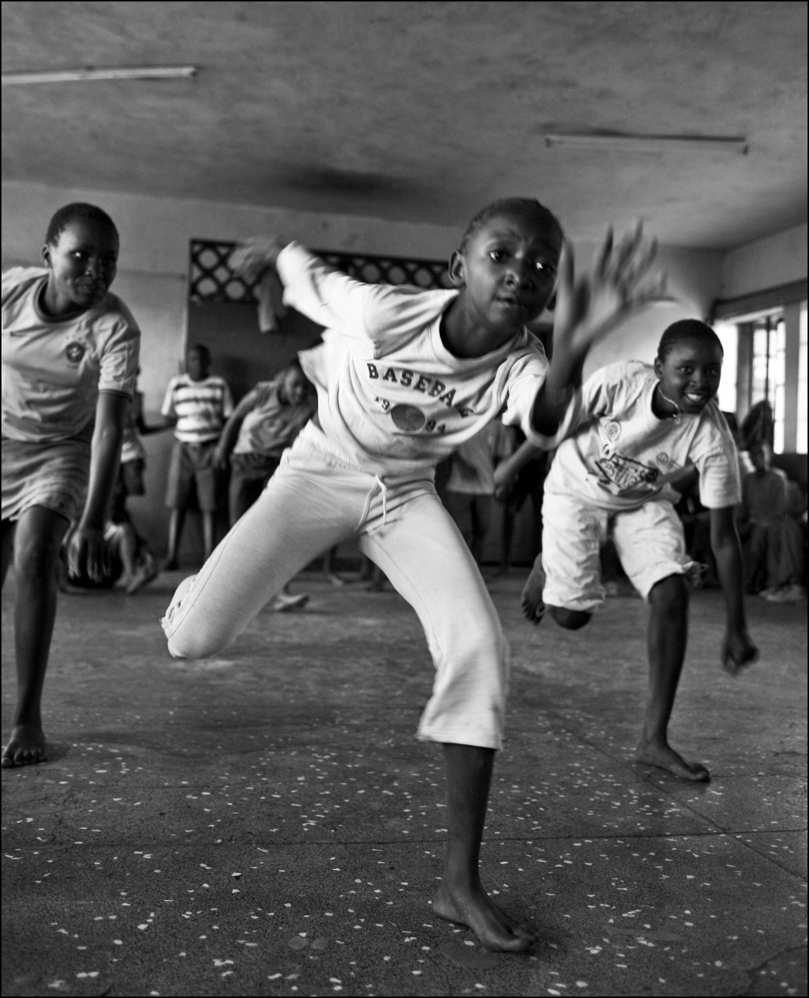 dancers hard at work rehearsing in mathare
