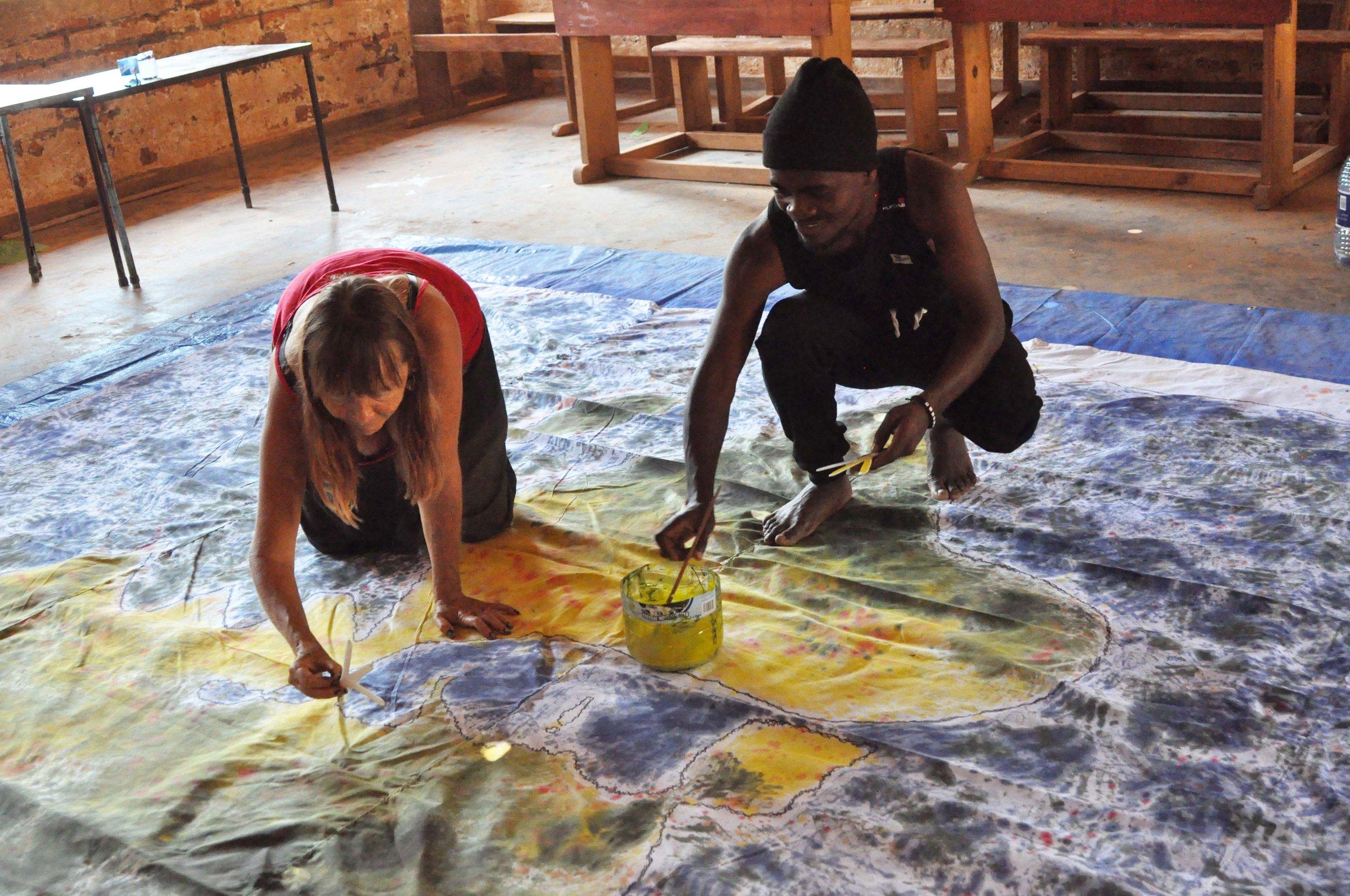 Kate and Bilton painting backdrop.JPG