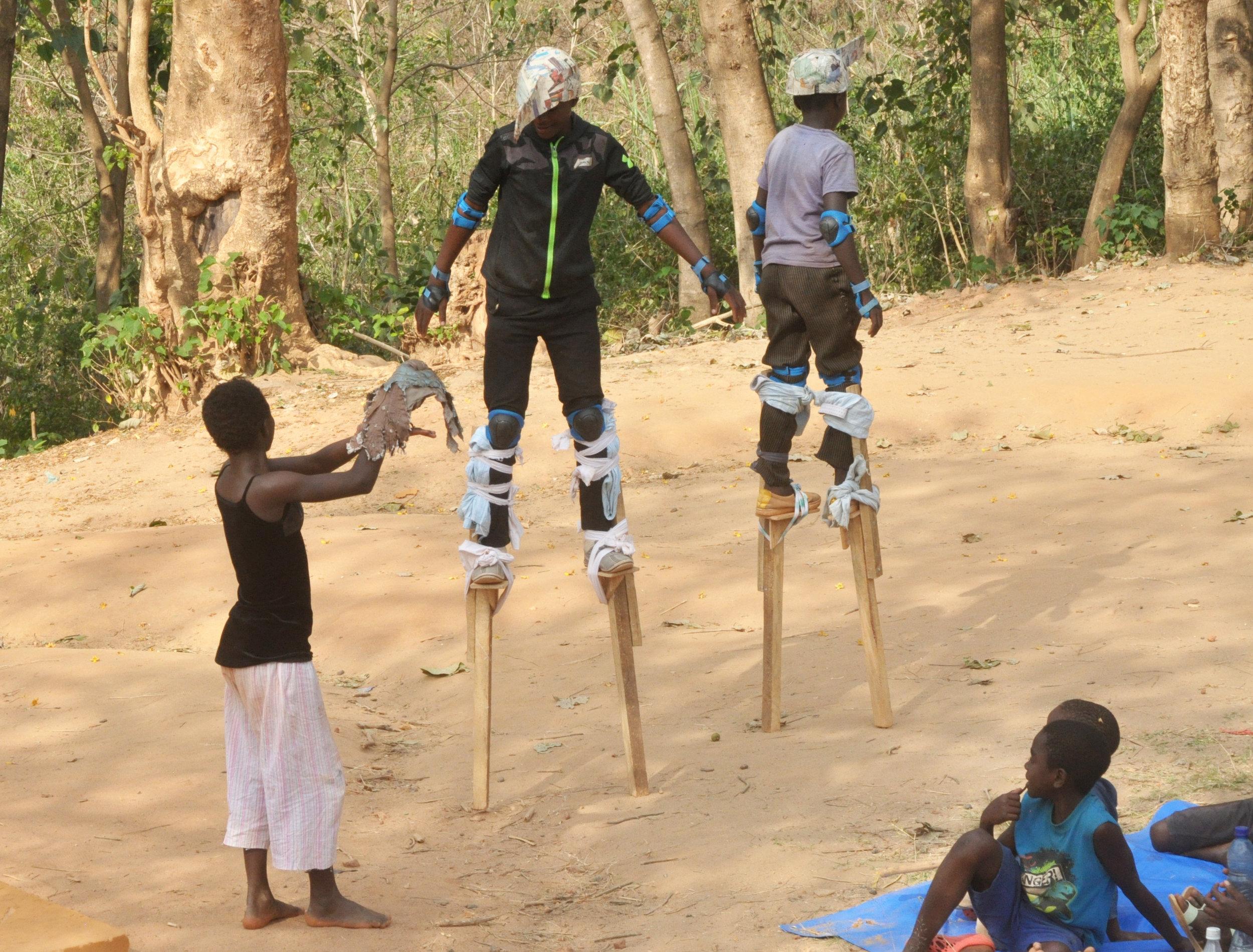 stilt practice Kalambwe - with cuckoo.JPG