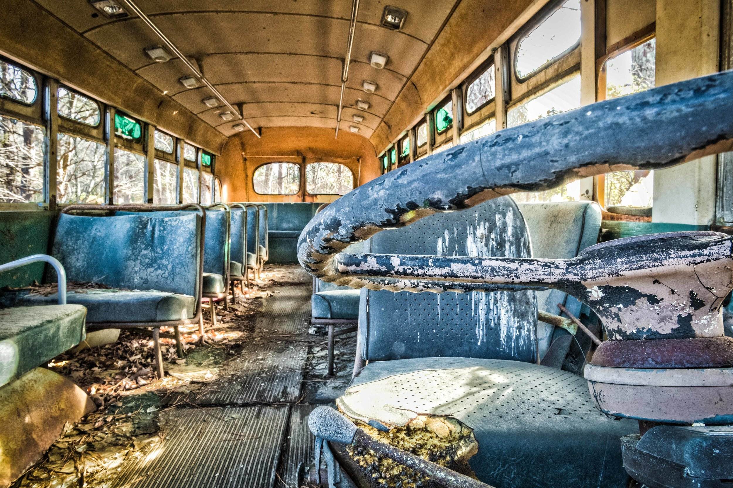 Looks like a band tour bus after a 40 city tour. I should know.