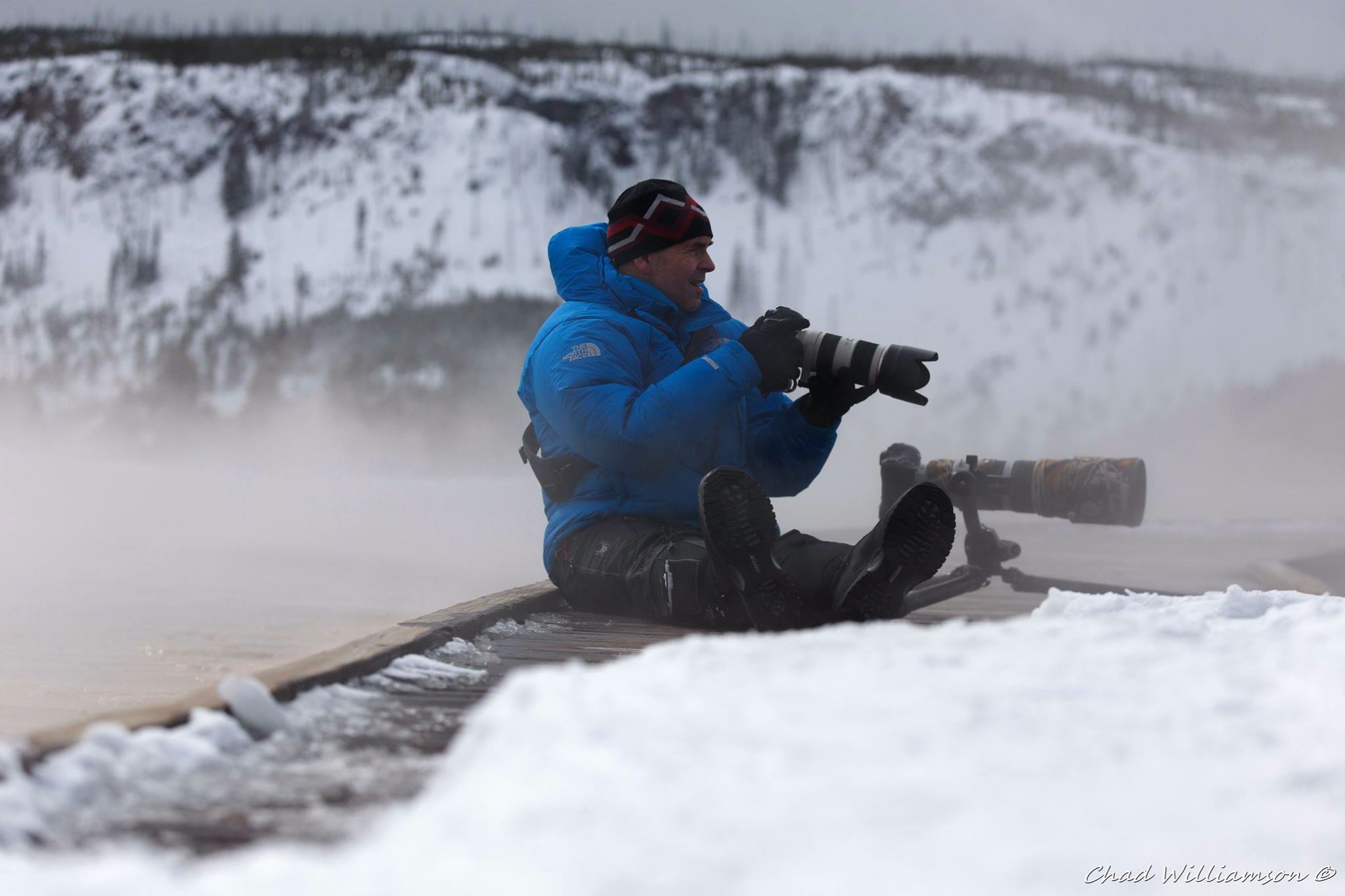 On location in Yellowstone...