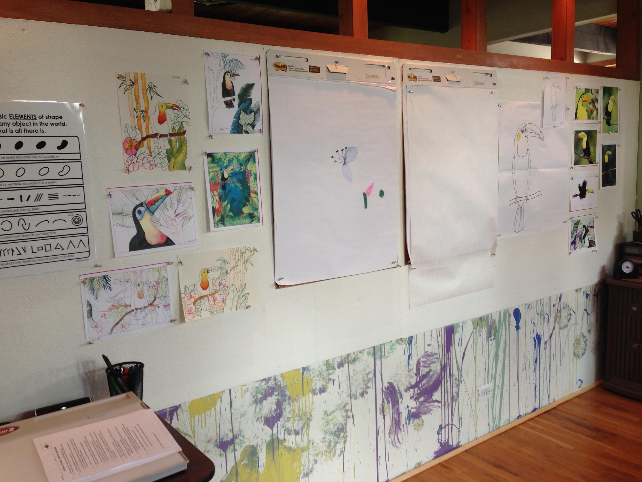 Teaching and Art Wall