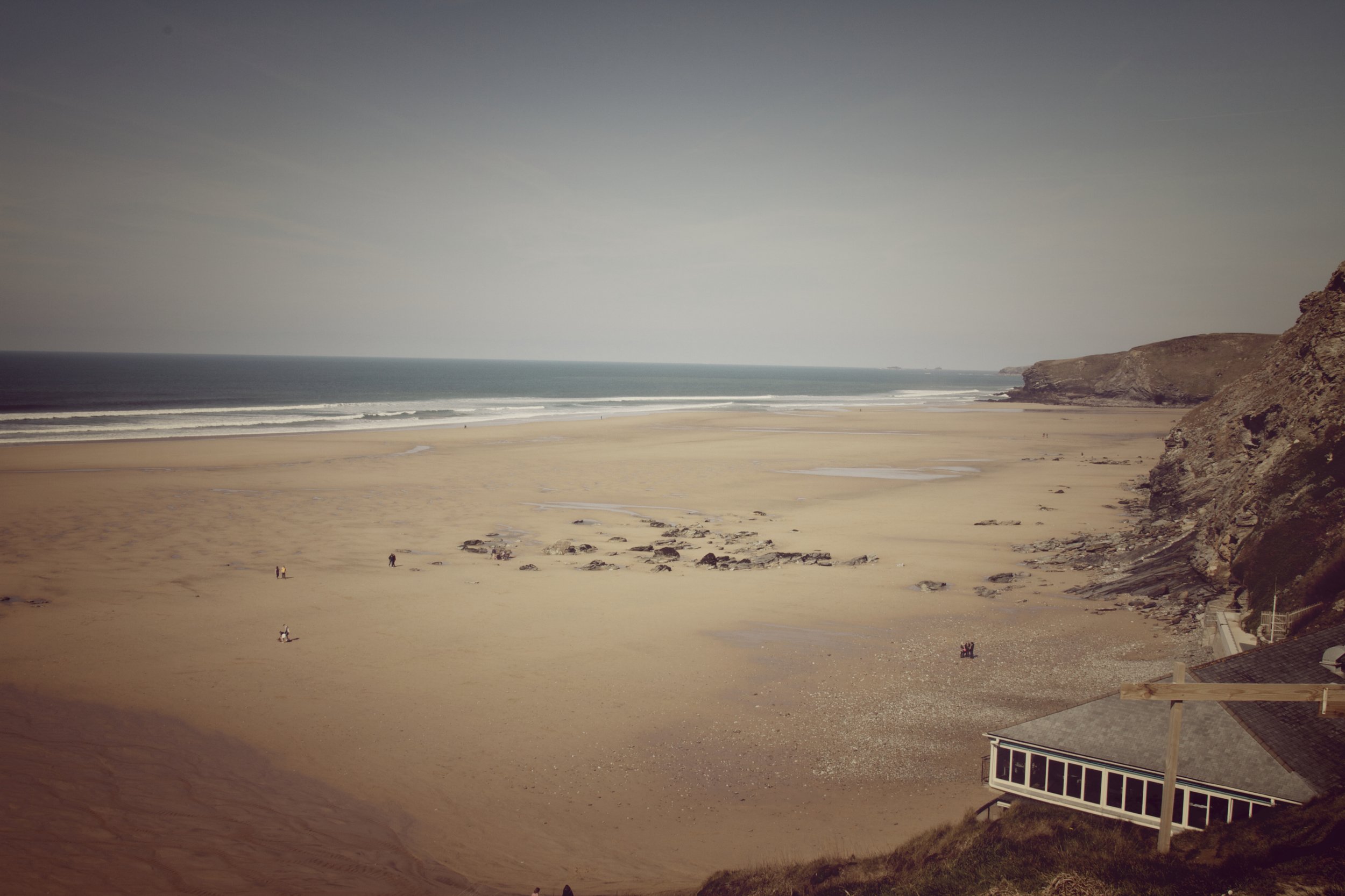 Jamies Fifteen bottom right overlooking Watergate bay Newquay