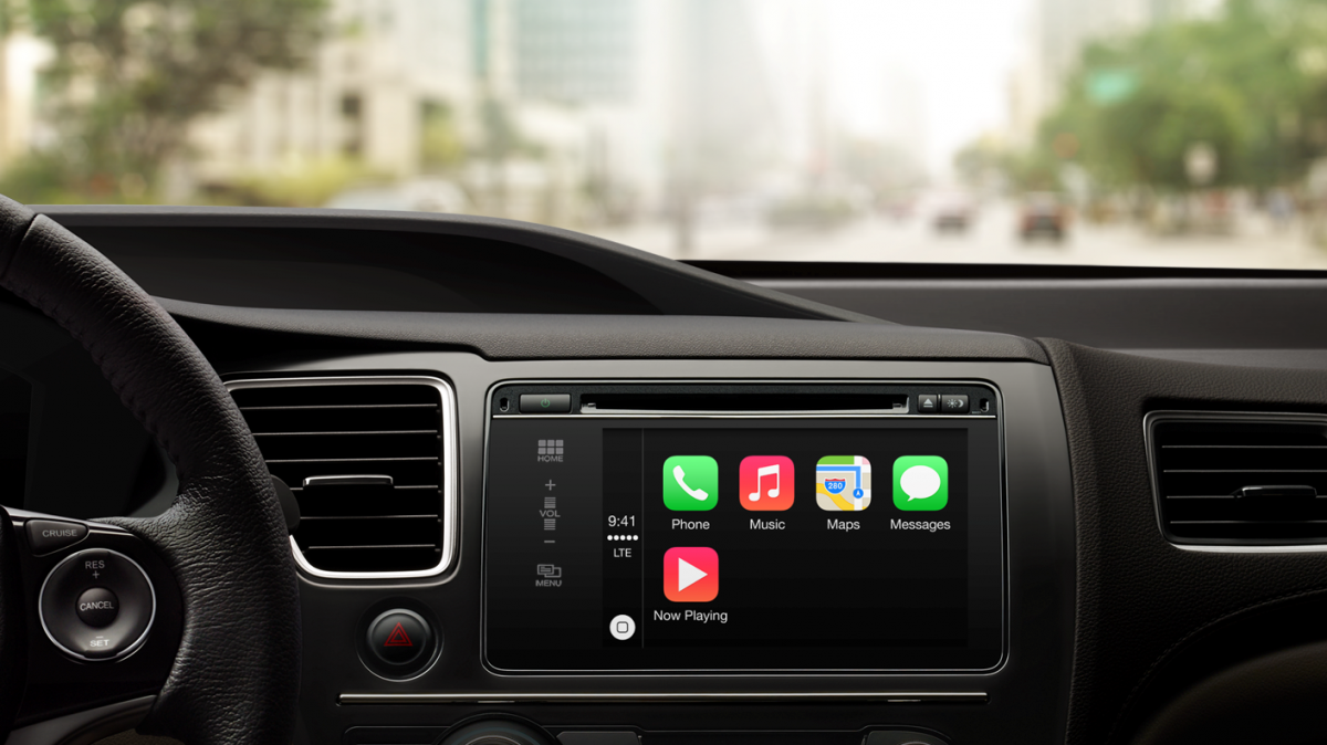 Apple's CarPlay integrates iOS into your car's dashboard system. Credit: Apple