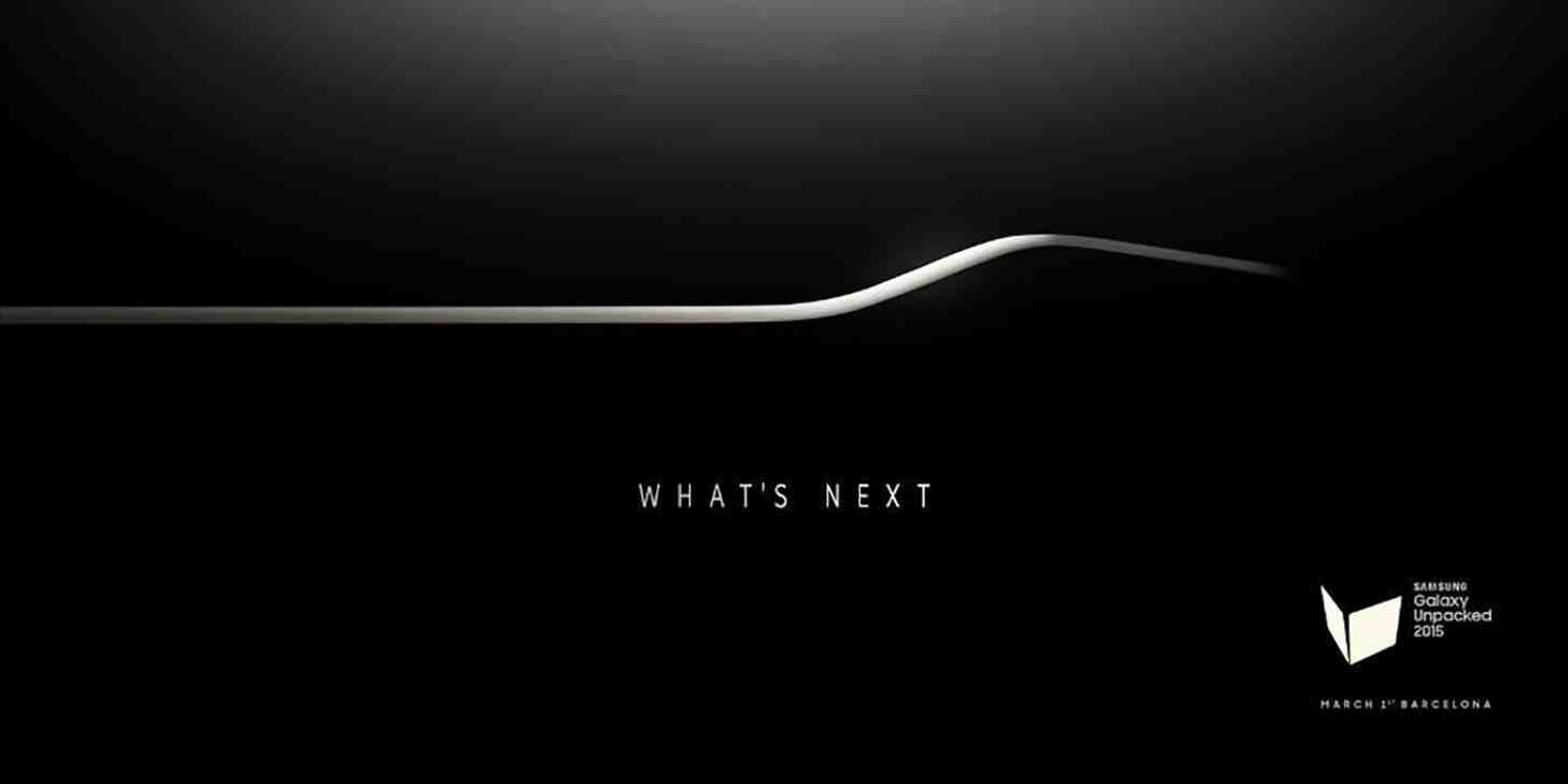 Samsung's Galaxy S6 launch eventinvitation suggests the new phone will have a curved display. Credit: Samsung