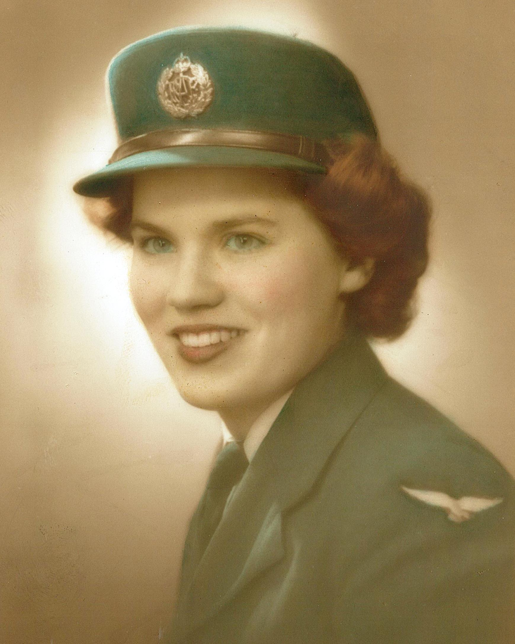 Jasmine in 1943 acting as a Canadian Air Force WAC Wireless Operator