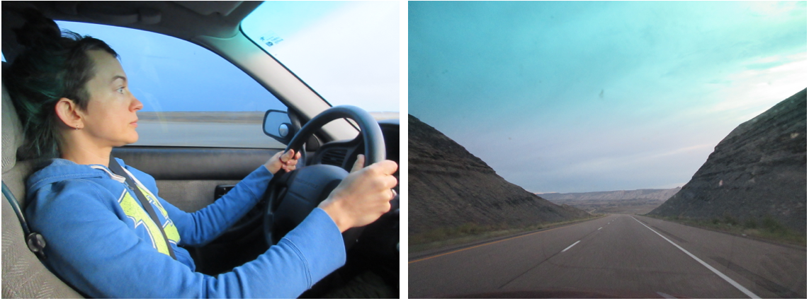 Terrified? Not at all.   Kati learned quickly, and did her share of the long drive to and from Nevada in September.