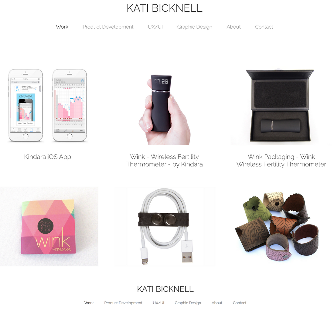 Kati's new site that showcases some of her design work