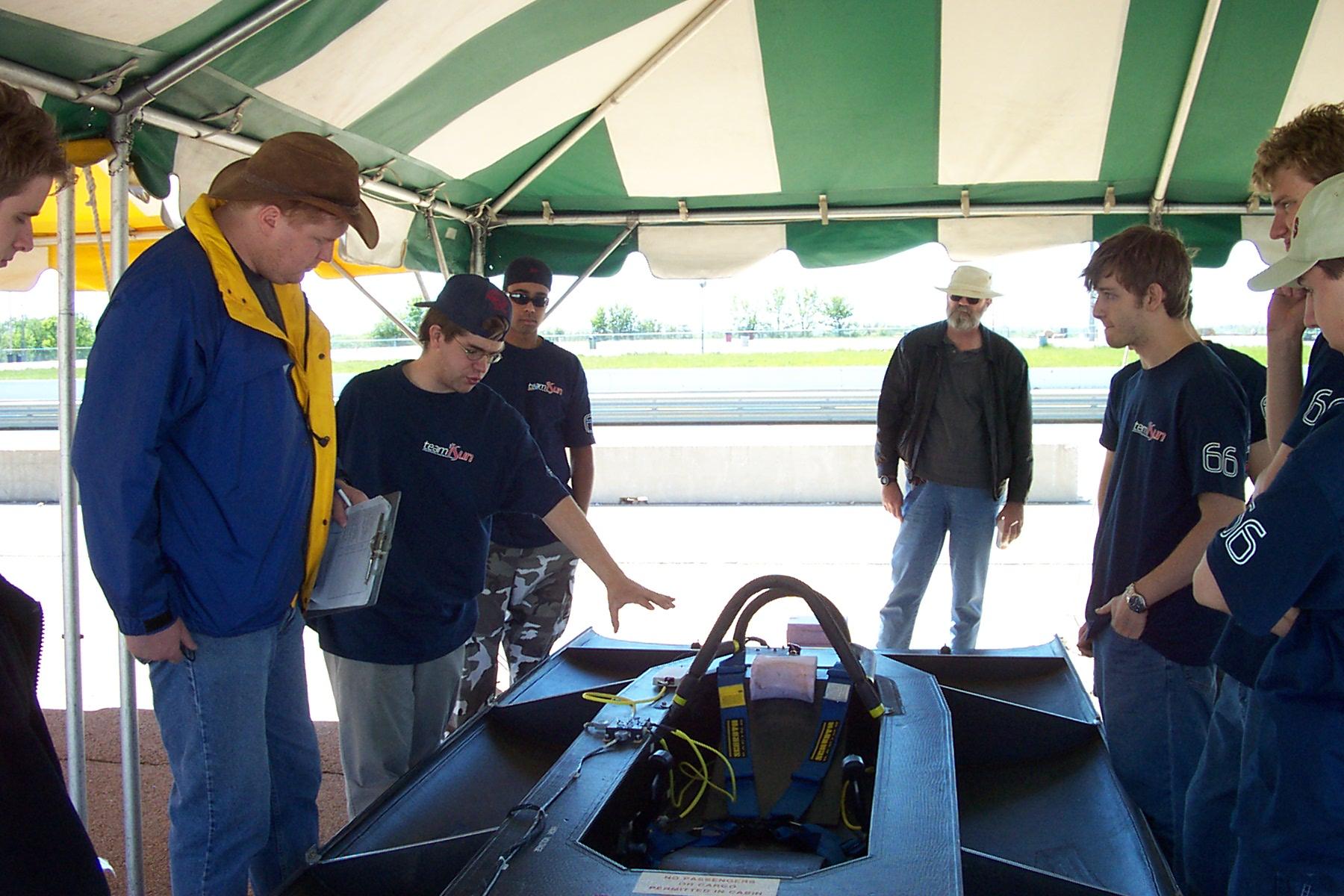 phil taking control of electrical scrutineering  at FSGP2002.jpg.JPG