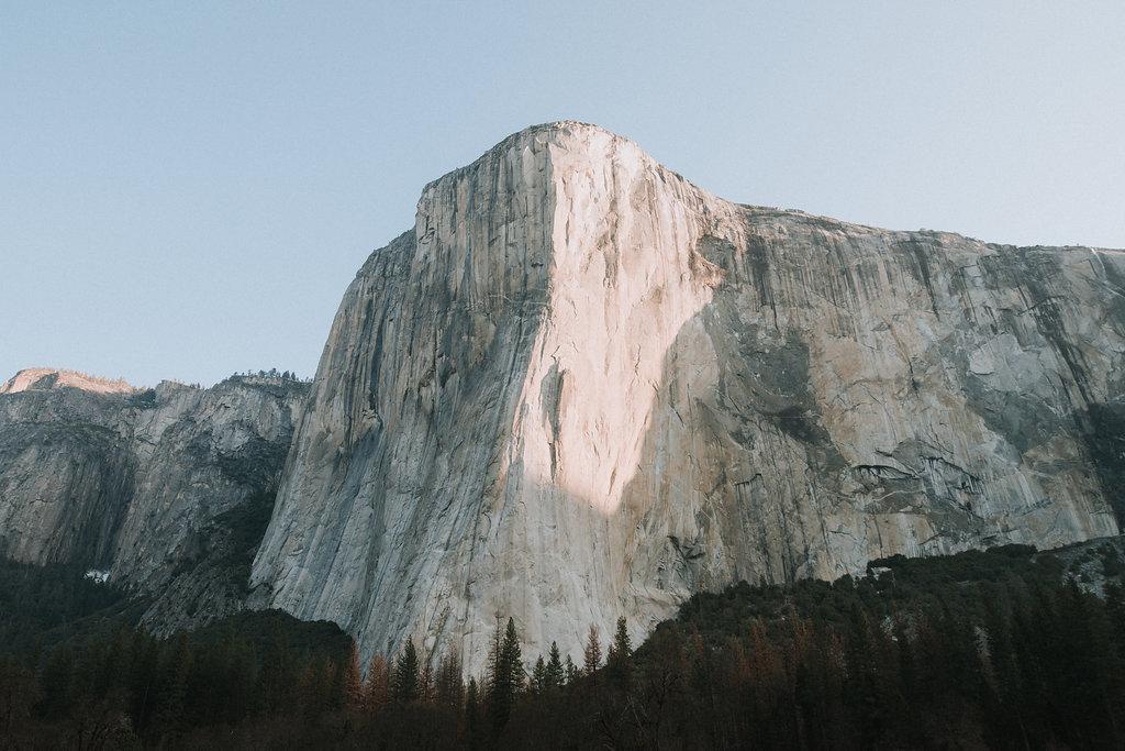 El Capitan at Sunrise in Yosemite Valley in the spring..