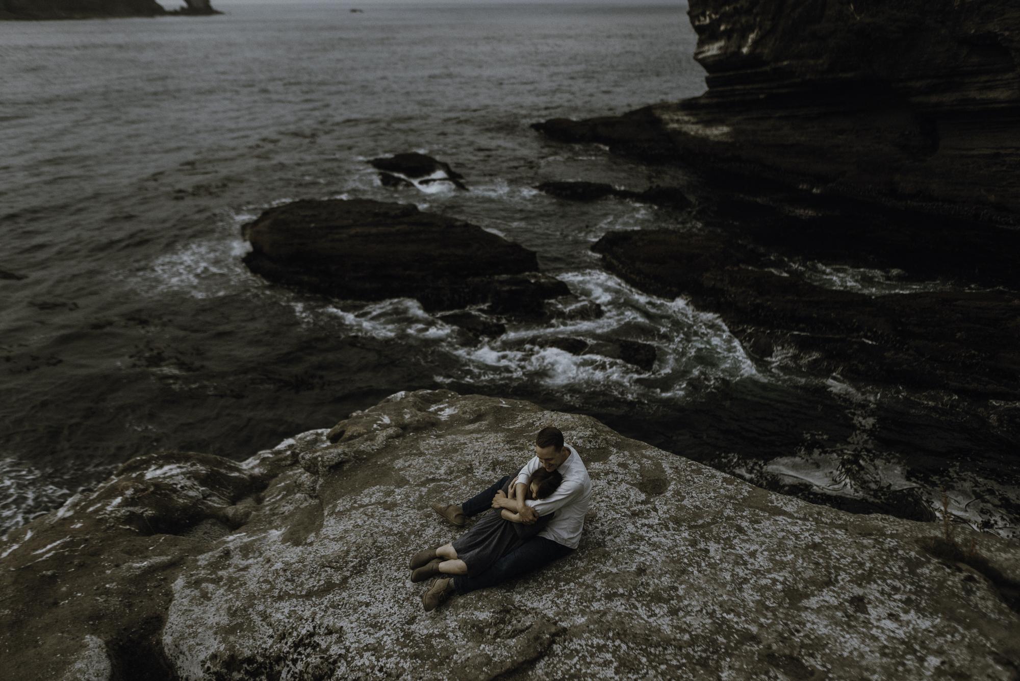 gordon + elise - Washington Coast: Engagement