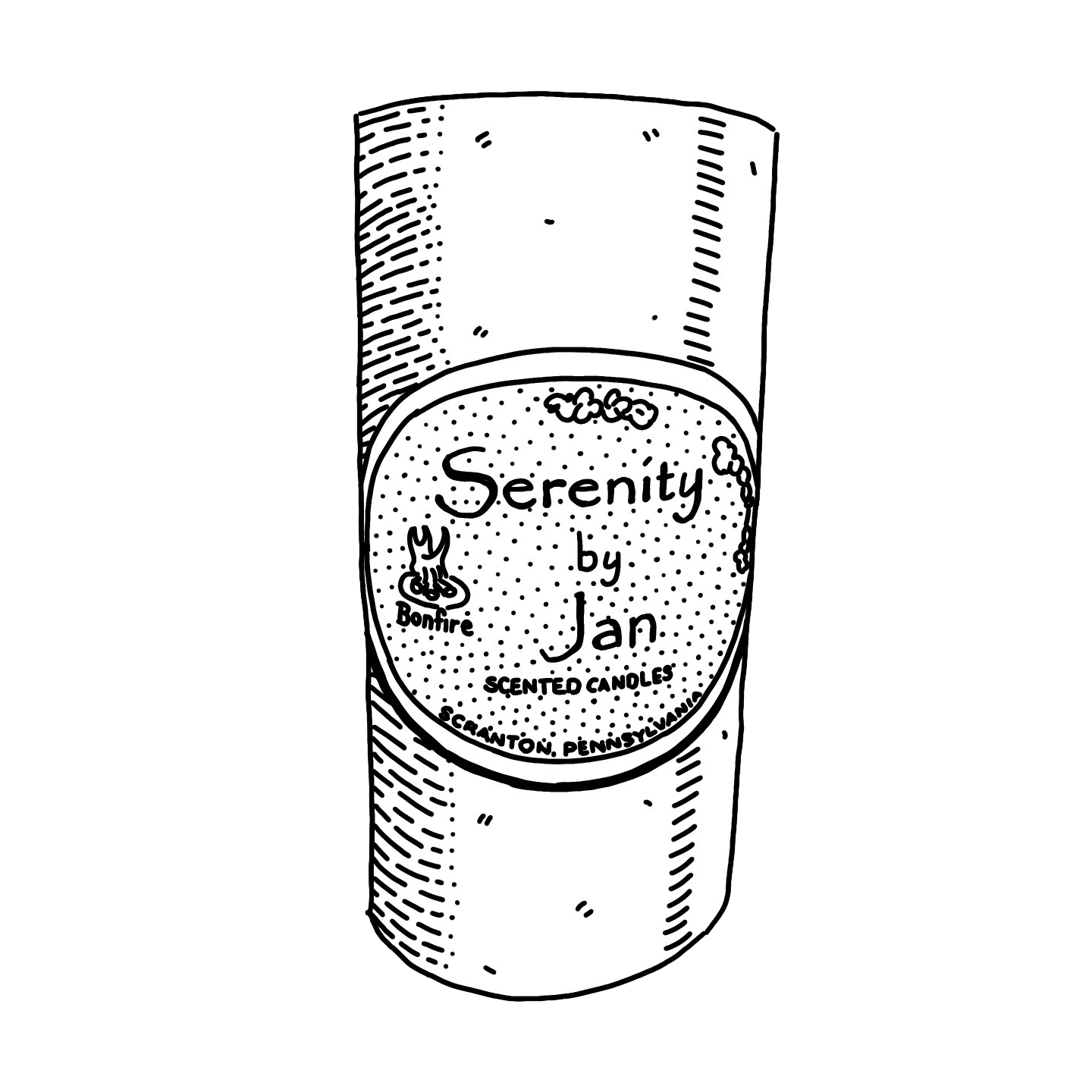 The Office Baby Chart Week 18 Serenity by Jan Candle