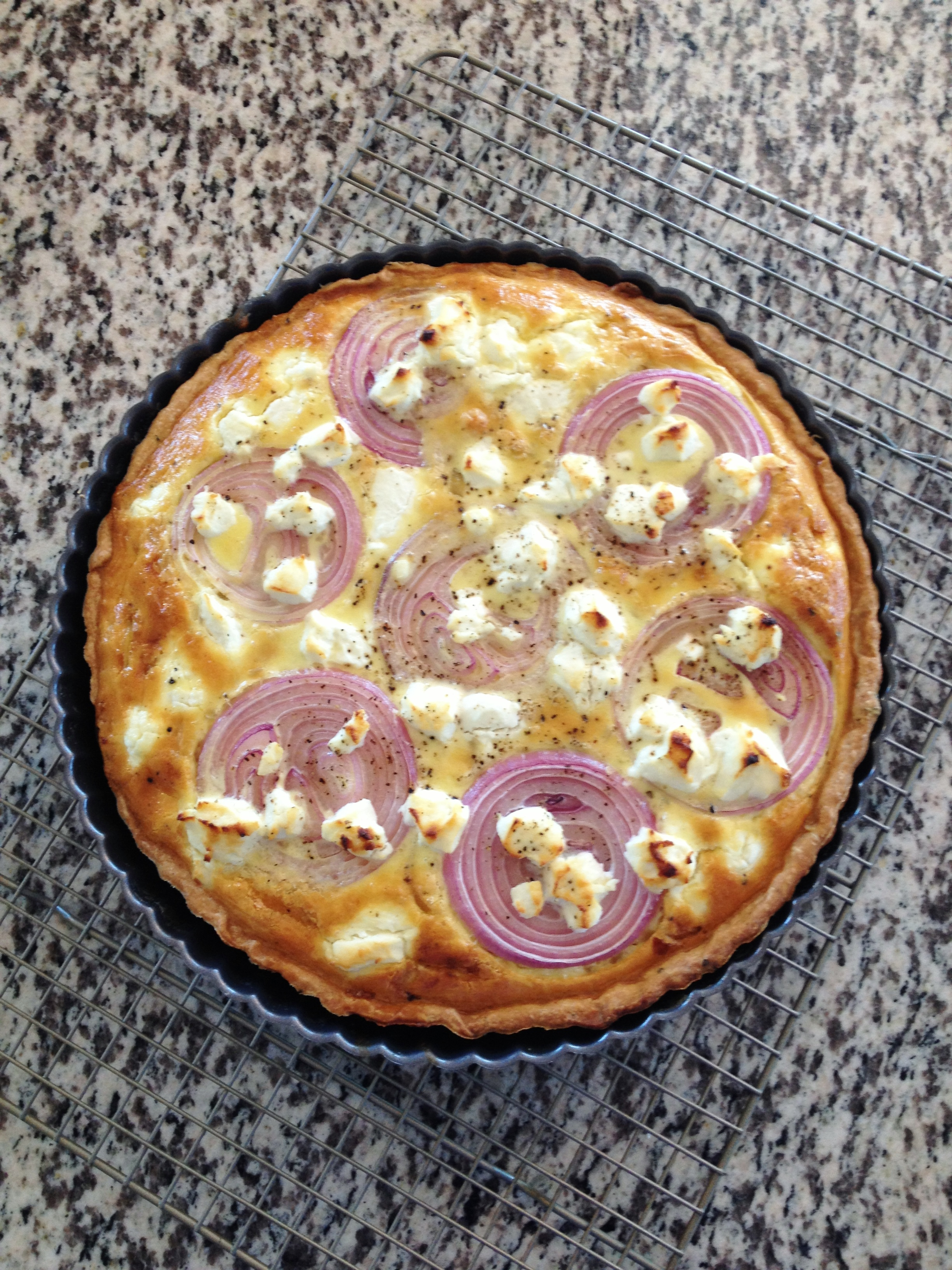 Onion & Goat Cheese Tart