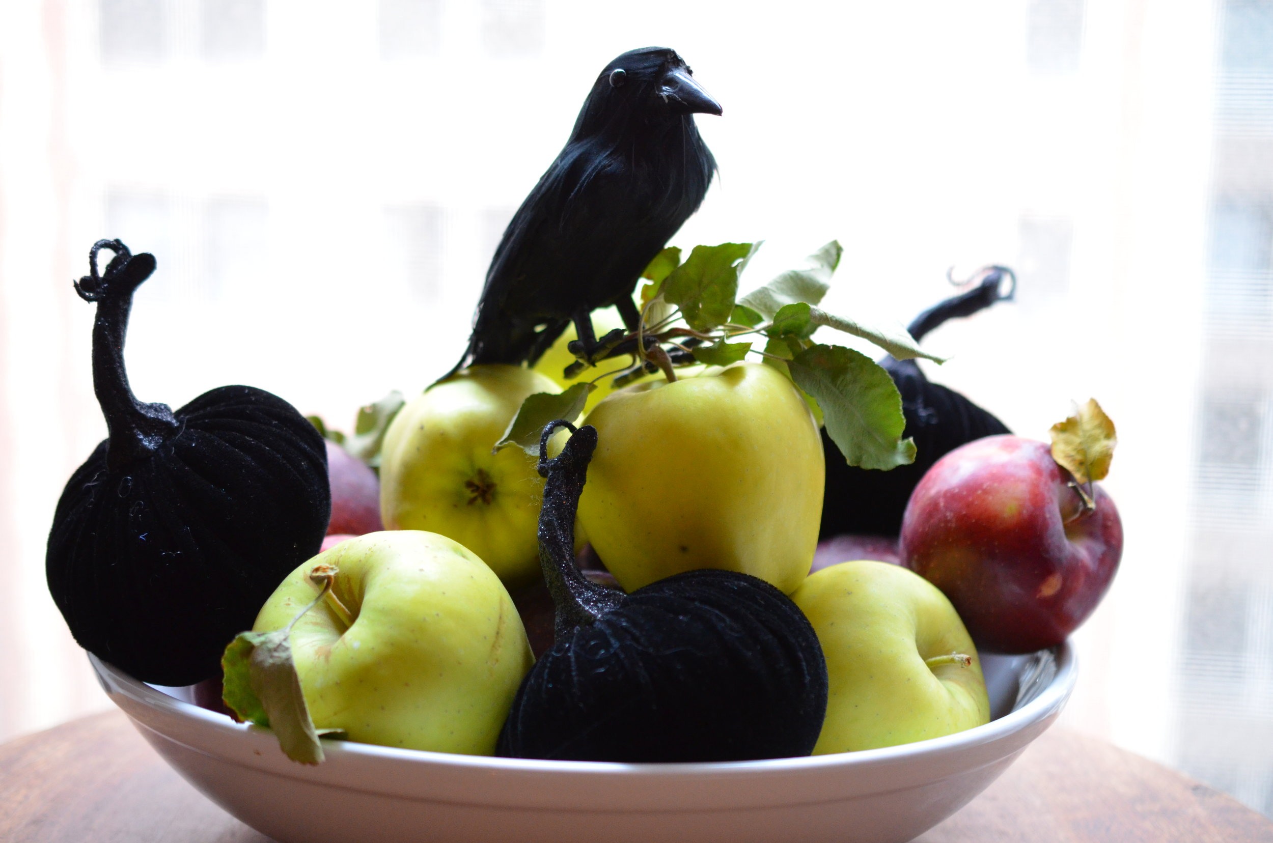 White Bowl with Apples