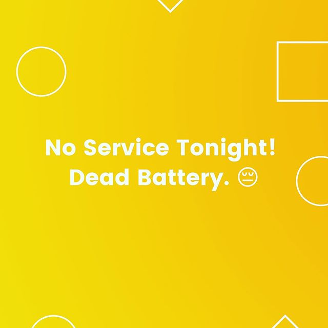 🚨 We won't be at @optimismbrewing tonight because of a dead truck battery. So sorry friends! 😥