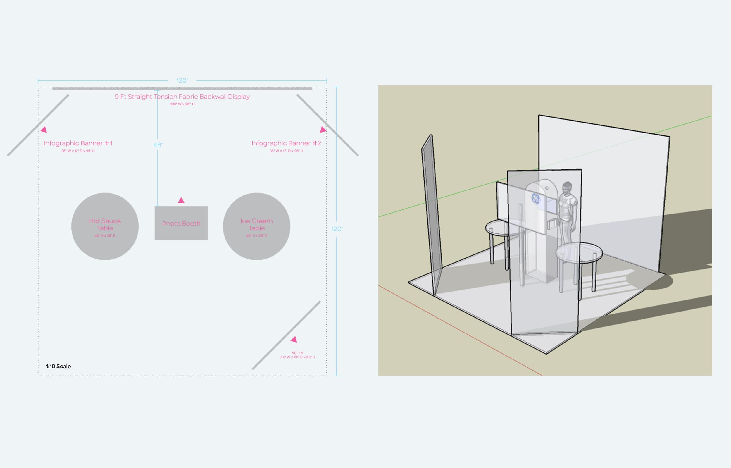 Event Floor Plan 1:10 Scale