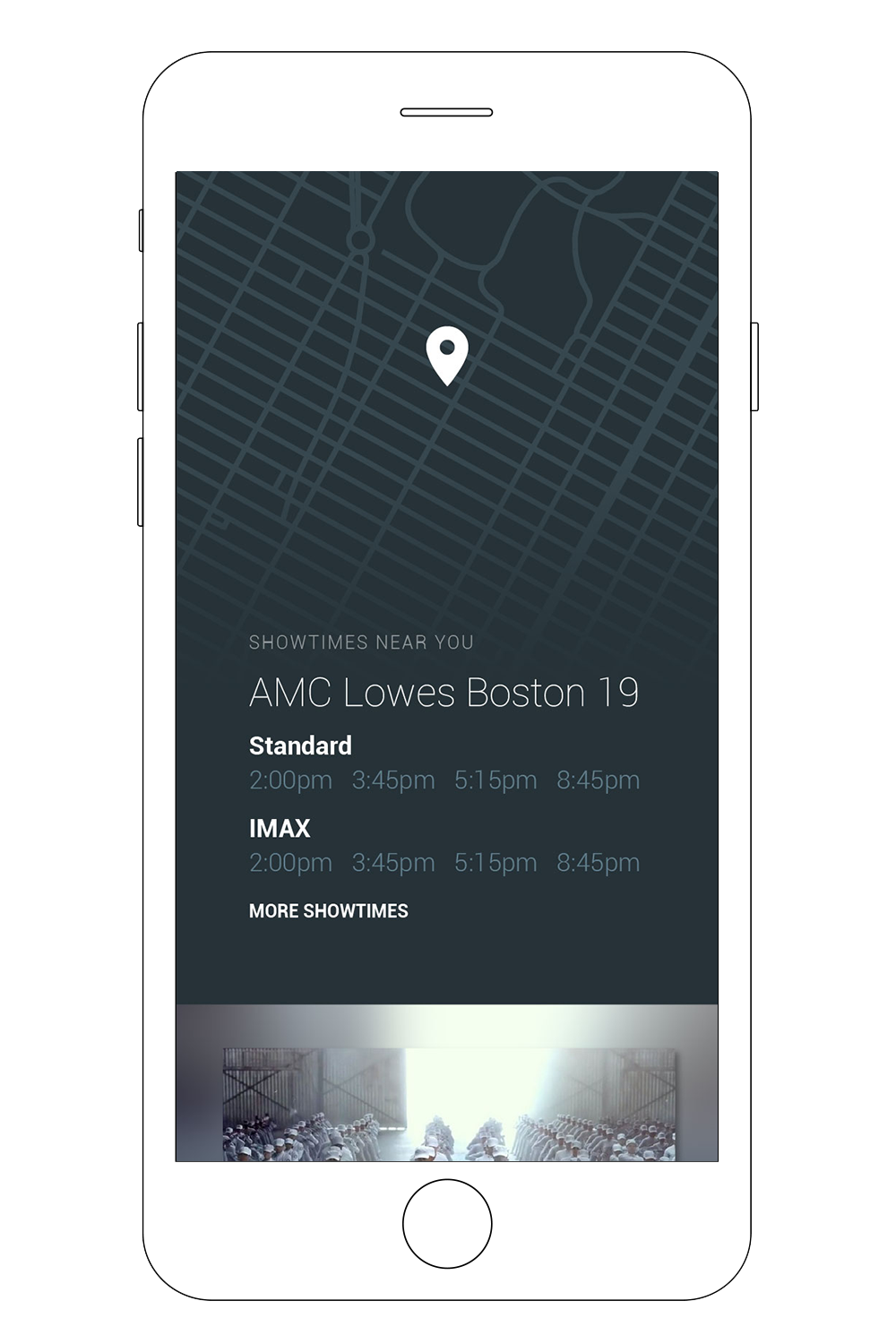 - Contextual contentBased on the user's location, we explored opportunities for contextually relevant content such as movies, showtimes, or concerts.