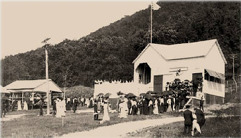 Long lines at the lower incline railway station on opening day, May 30, 1902. Over 1,600 people rode the incline that day. They would be followed by roughly 3.5 million more over the next 76 years.    Courtesy Beacon Historic Society