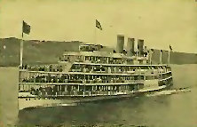 One of several Hudson River passenger steamships that made Mt. Beacon accessible to millions.