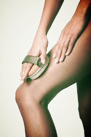 Use small circular movements over your thighs, butt and other areas with cellulite for a few minutes a few times per week.