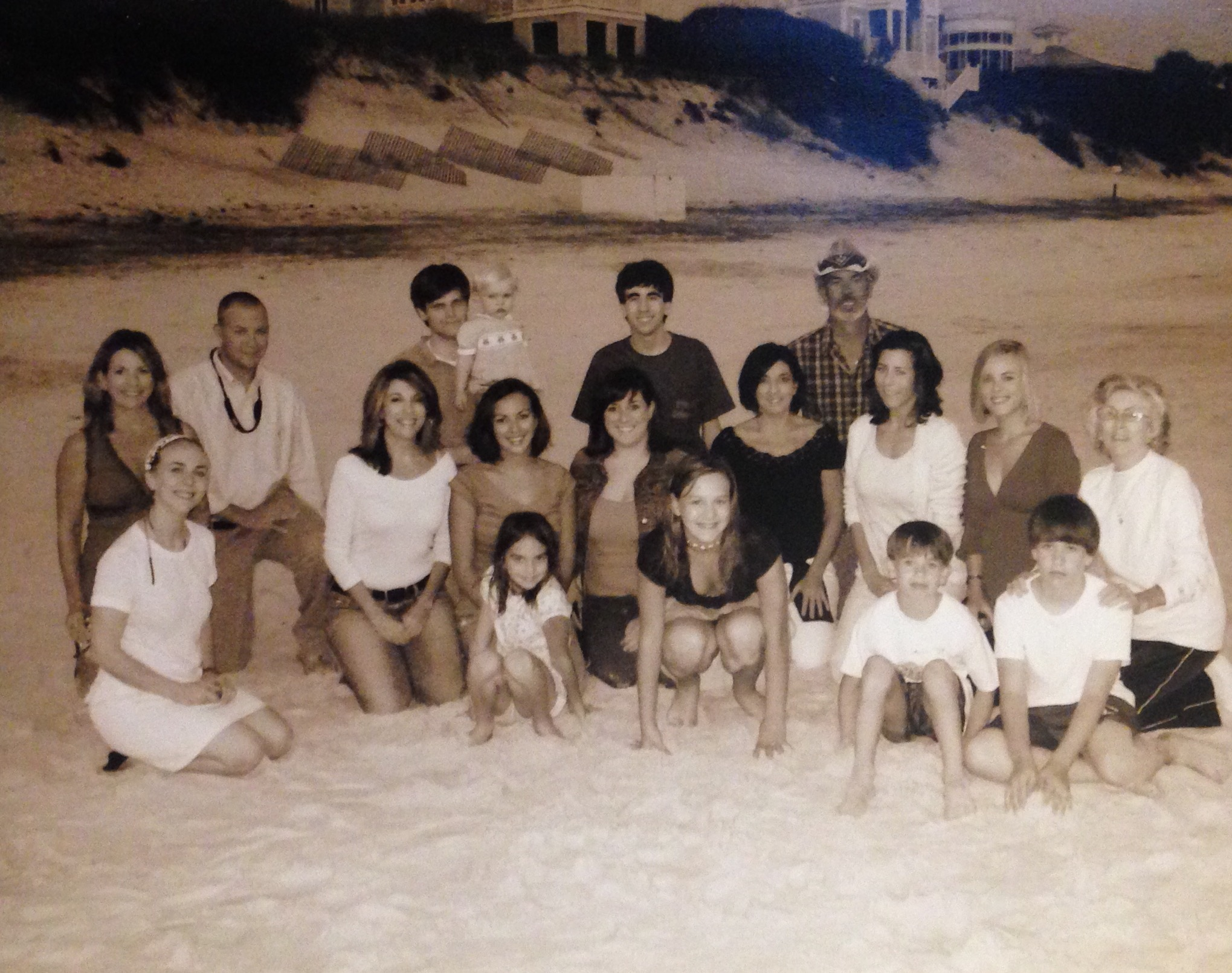 10 years ago this month-Mom's 50th in Seaside. Grandmother with her 4 daughters, most of her grandchildren,missing Jim, her son, and a couple grandkids and dads. October 2006