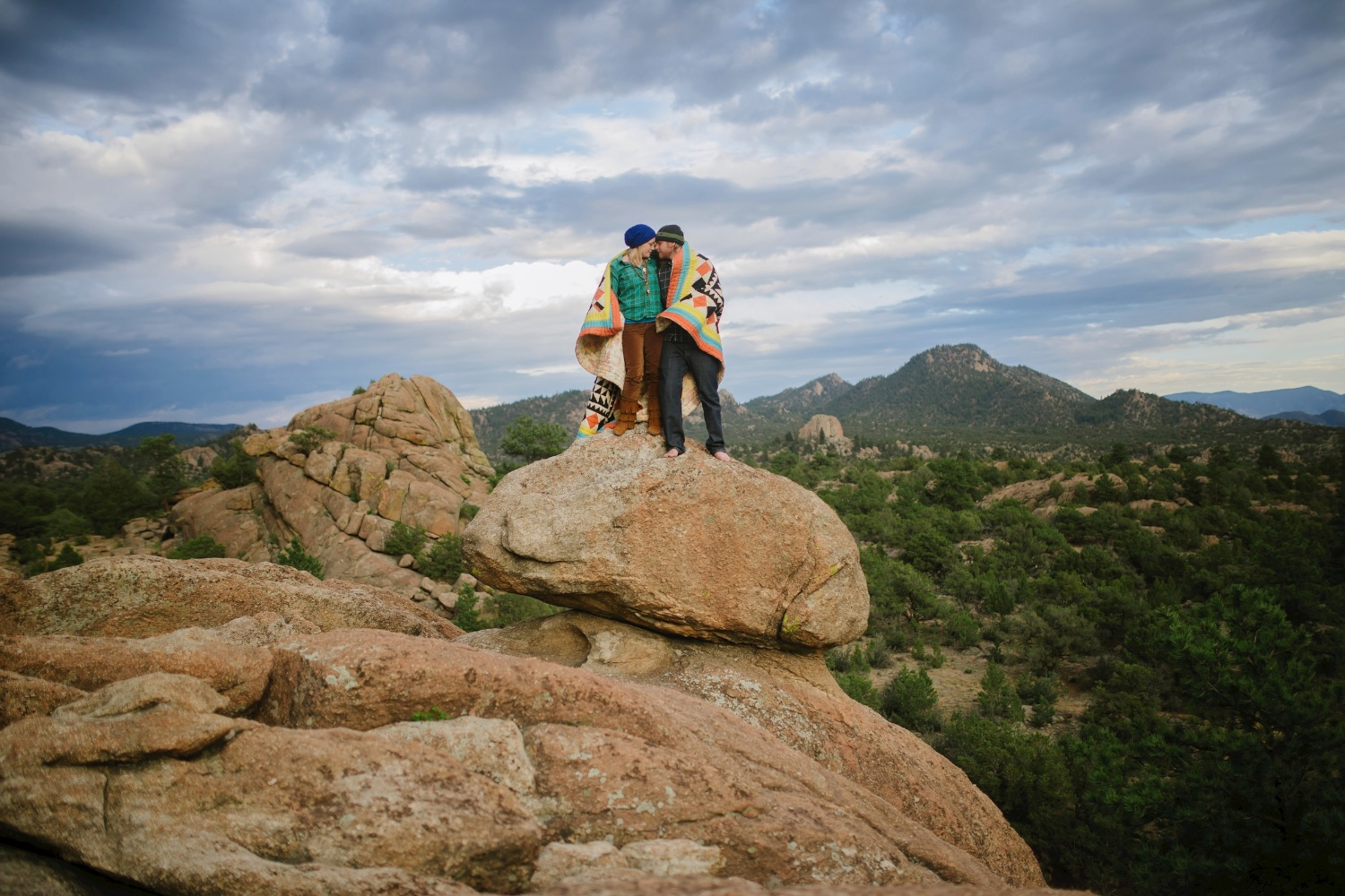 Epic adventurous engagement photo shoot by Maddie Mae Photography